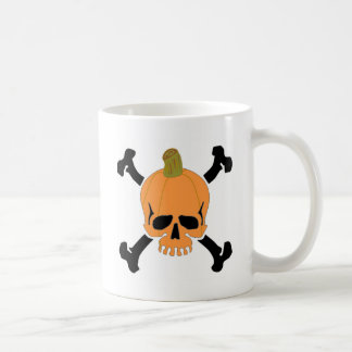 Pumpkin Skull Coffee Mug