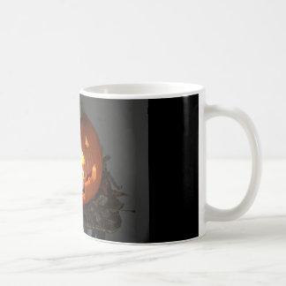 Pumpkin Skull Halloween Coffee Mug