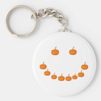 Pumpkin Smile Basic Round Button Keychain