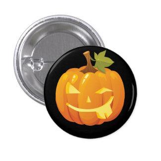 Pumpkin Smiley Button