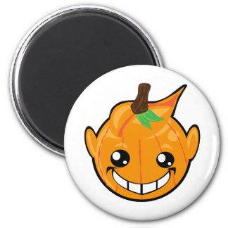 pumpkin smiley face magnet
