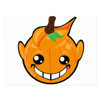 pumpkin smiley face postcard