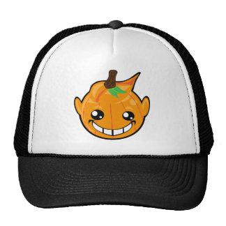 pumpkin smiley face trucker hat