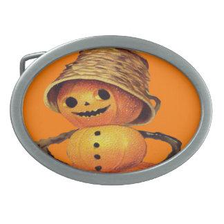 Pumpkin Snowman Belt Buckle