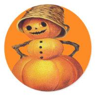 Pumpkin Snowman Sticker