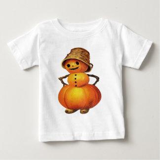 Pumpkin Snowman (Vintage Halloween Card) Baby T-Shirt