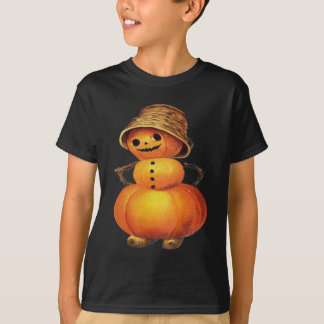 Pumpkin Snowman (Vintage Halloween Card) T-Shirt