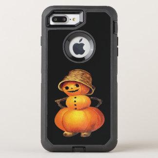 Pumpkin Snowman Vintage Halloween OtterBox Defender iPhone 8 Plus/7 Plus Case