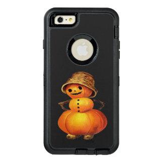 Pumpkin Snowman Vintage Halloween OtterBox Defender iPhone Case