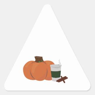 Pumpkin Spice 2 Triangle Sticker