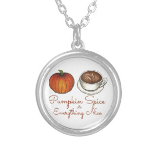 Pumpkin Spice and Everything Nice Coffee Necklace