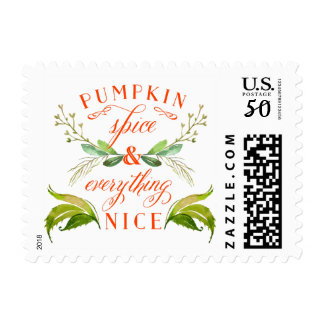 Pumpkin Spice and Everything Nice Fall Postage
