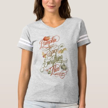 Beach Themed Pumpkin Spice and Everything Nice for Autumn T-shirt