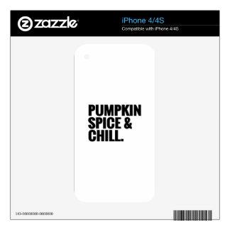 Pumpkin Spice & Chill 2 iPhone 4S Decal