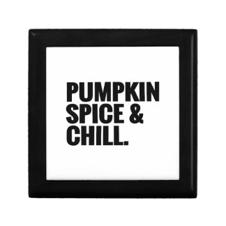 Pumpkin Spice & Chill 2 Jewelry Box