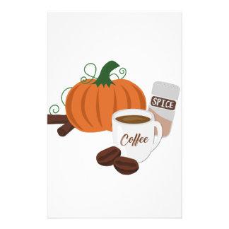 Pumpkin Spice Coffee Stationery