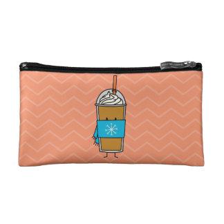 Pumpkin Spice Cold Latte Cosmetic Bag
