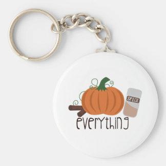 Pumpkin Spice Everything Keychain