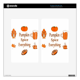 pumpkin spice everything kindle fire skins