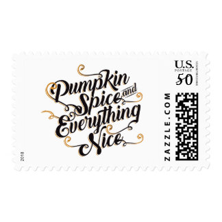 Pumpkin spice & everything nice postage