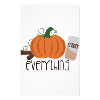 Pumpkin Spice Everything Stationery