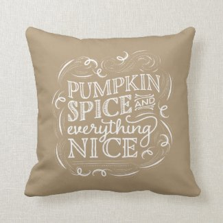 Pumpkin Spice Fall Halloween Decor Pillow