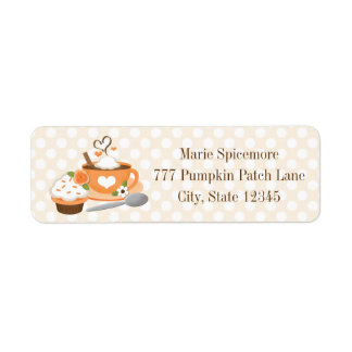 Pumpkin Spice Fall Wedding Shower Label