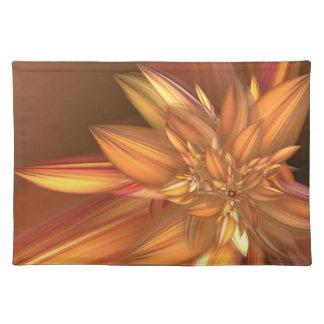 """Pumpkin Spice Fractal Flower Placemat 20"""" x 14"""""""