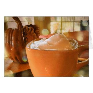 Pumpkin Spice Latte Birthday Card