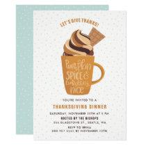Pumpkin Spice Latte Thanksgiving Party Invitation