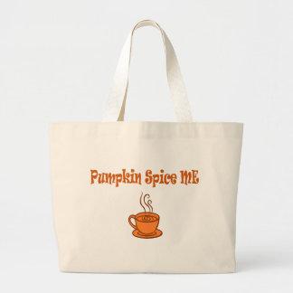 pumpkin spice me large tote bag