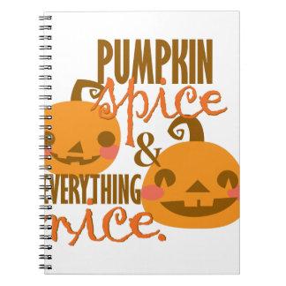 Pumpkin Spice Notebook