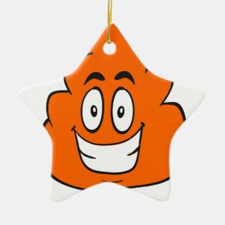 pumpkin spice poop ceramic ornament