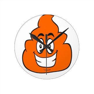 pumpkin spice poop round clock