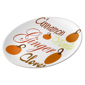 Pumpkin Spice Porcelain Plate