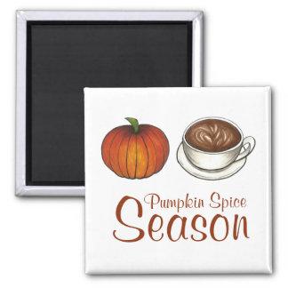 Pumpkin Spice Season Coffee Latte Magnet