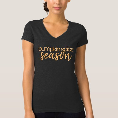 Pumpkin Spice Season _ Dark Grey T_Shirt