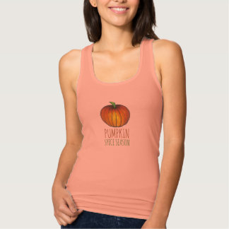 Pumpkin Spice Season Orange Autumn Fall Tank