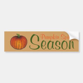 Pumpkin Spice Season Orange Harvest Farm Autumn Bumper Sticker
