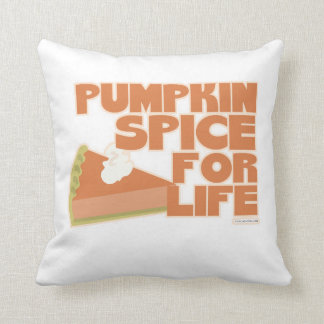 Pumpkin Spice Snappy Saying Throw Pillow