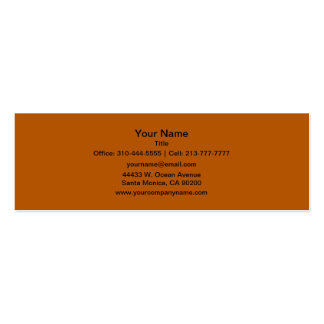 Pumpkin Spice Solid Color Double-Sided Mini Business Cards (Pack Of 20)
