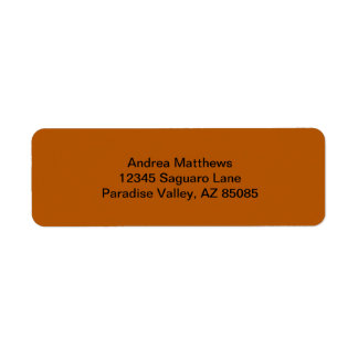 Pumpkin Spice Solid Color Label
