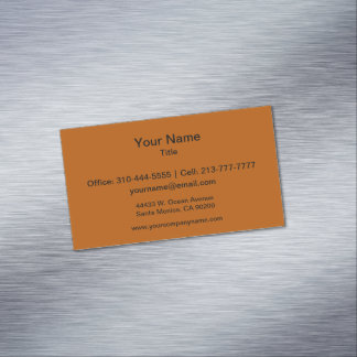 Pumpkin Spice Solid Color Magnetic Business Card