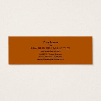 Pumpkin Spice Solid Color Mini Business Card