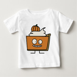 Pumpkin spiced pie funny slice whipped cream crust baby T-Shirt