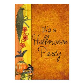 Pumpkin & Spider Halloween Invitation