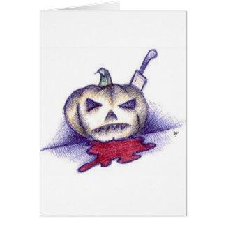 Pumpkin Stab Card