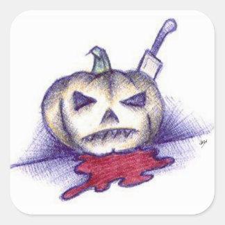 Pumpkin Stab Square Sticker