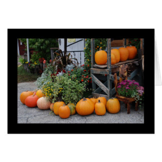 Pumpkin Stand Greeting Cards