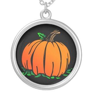 Pumpkin Sterling Silver Necklace necklace